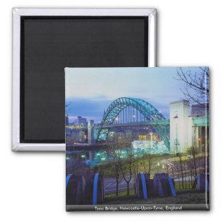 Tyne-Brücke, Newcastle upon Tyne, England Quadratischer Magnet