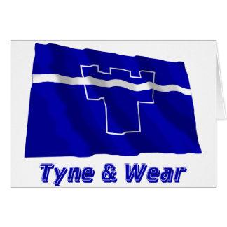 Tyne und Abnutzungs-wellenartig bewegende Flagge Karte