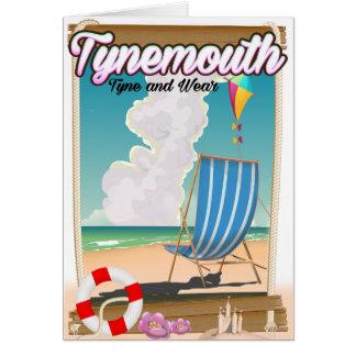 Tynemouth Tyne und Abnutzung, Reiseplakat Karte