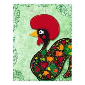 Typischer Hahn von Barcelos Postkarte