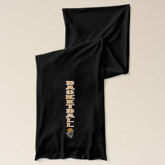 Typografie-Basketball im Gold und in den weißen Schal