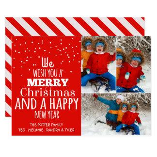 Typografie-Foto-Feiertags-Grußkarte 12,7 X 17,8 Cm Einladungskarte