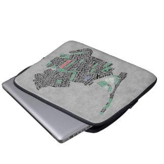 Typografie-Karten-Laptop-Hülse des Queens-New York Laptopschutzhülle