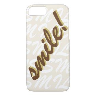 Typografie-Lächeln Brown iPhone 8/7 Hülle