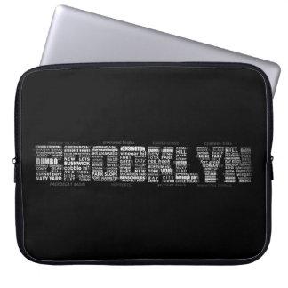 Typografie-Laptop-Hülse Brooklyns New York Laptopschutzhülle