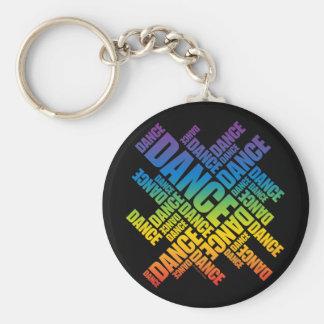 Typografischer Tanz (Spektrum) Schlüsselanhänger