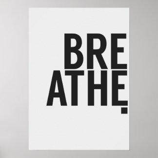 Typografisches Plakat - atmen Sie