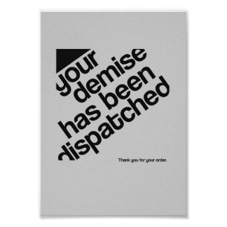 Typografisches Plakat - Ende