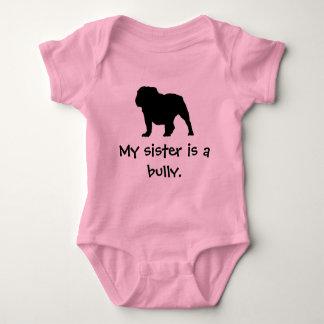 Tyrann-Schwester-Rosa-Strampler Baby Strampler