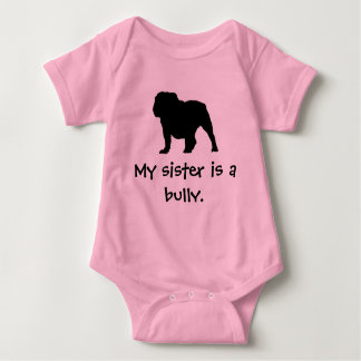 Tyrann-Schwester-Rosa-Strampler Babybody