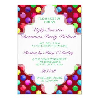 U-Auswahl-Farbantiken-Weihnachtsbaum-Verzierungen 12,7 X 17,8 Cm Einladungskarte