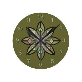 U-Auswahl Farbeisen-keltische Glück-Blume Uhr