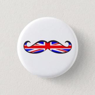 U.K. Flaggen-Schnurrbart Runder Button 2,5 Cm