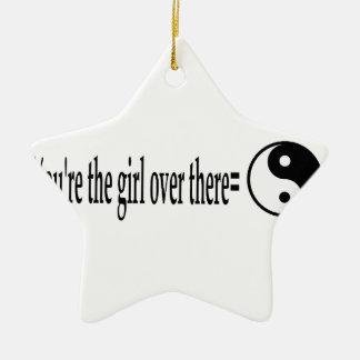 U R das Mädchen Keramik Stern-Ornament
