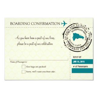 UAWG Boarding-Durchlauf NACH Dominikanische 8,9 X 12,7 Cm Einladungskarte
