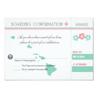 UAWG Boarding-Durchlauf NACH HAWAII 8,9 X 12,7 Cm Einladungskarte