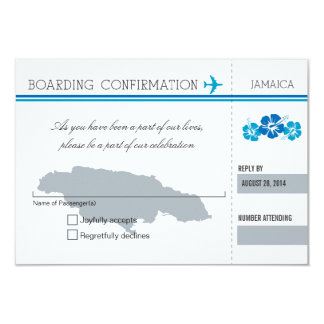 UAWG Boarding-Durchlauf NACH JAMAIKA 8,9 X 12,7 Cm Einladungskarte