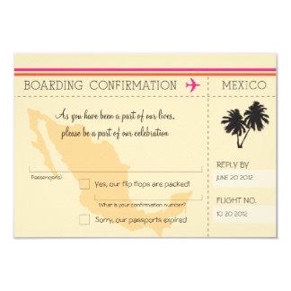 UAWG Boarding-Durchlauf NACH Mexiko 8,9 X 12,7 Cm Einladungskarte