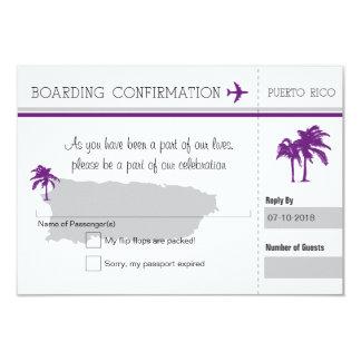 UAWG Boarding-Durchlauf NACH Puerto Rico 8,9 X 12,7 Cm Einladungskarte