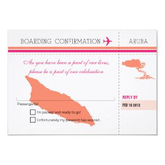 UAWG Boarding-Durchlauf ZU Aruba 8,9 X 12,7 Cm Einladungskarte