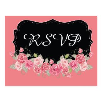UAWG hübsches rosa und schwarz Postkarte