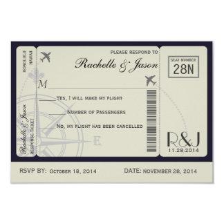 UAWG Karten-Fluglinien 8,9 X 12,7 Cm Einladungskarte