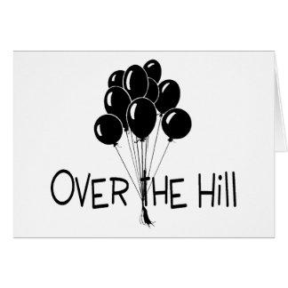 Über den Hügel-Schwarz-Ballonen Karte