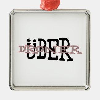 Uber Droner Silbernes Ornament