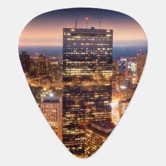 Überblick über Boston nachts Plektrum