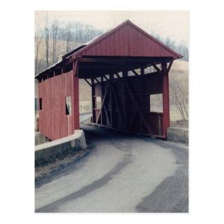 Überdachte Brücke Postkarte