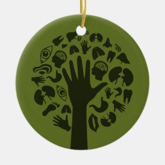 Übergeben Sie ein tree3 Keramik Ornament