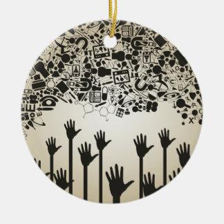 Übergeben Sie eine Wissenschaft Keramik Ornament