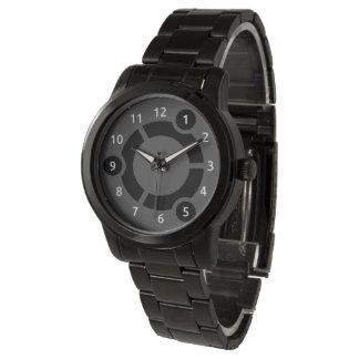 Übergroße schwarze Armband-Uhr Ubuntus Armbanduhr