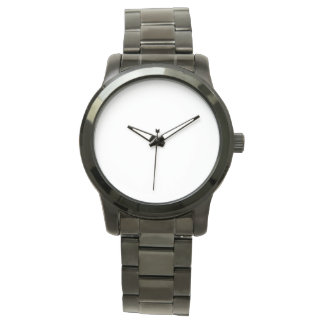 Übergroße schwarze Armband-Unisexuhr Handuhr