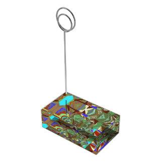 Überlagerungs-abstrakter aufregender Entwurf Tischnummernhalter