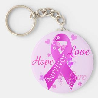 Überlebend-Liebe-Hoffnungs-Heilung Standard Runder Schlüsselanhänger