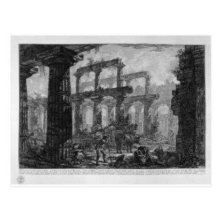 Überreste des Tempels der gleichen Zelle durch Postkarte