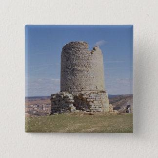Überreste eines Turms von der Stadt von 'Uxama Quadratischer Button 5,1 Cm