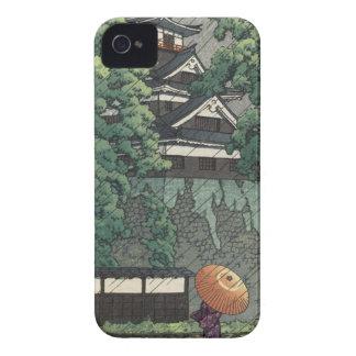 Udo Turm, Kumamoto-Schloss im Regen - Kawase Hasui Case-Mate iPhone 4 Hülle