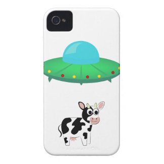 UFO-Kuh-Abduktions-Entwurf iPhone 4 Cover