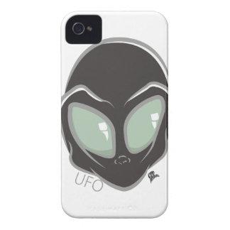 UFO-schwarzer galaktischer Marsalien-Kopf iPhone 4 Cover