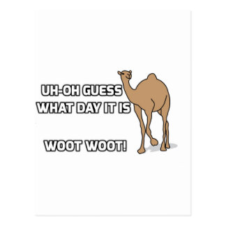 Uh-Oh Vermutung, welcher Tag es ist - Buckel-Tag Postkarte
