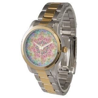 Uhr der Hippie-   Muster-die Vintage Frauen