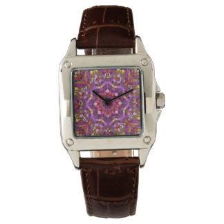 Uhr der Mosaik-   Muster-die Vintage Frauen