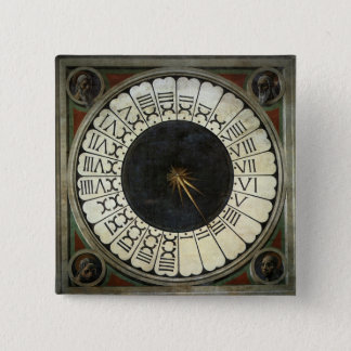 Uhr im Duomo durch Paolo Uccello Quadratischer Button 5,1 Cm