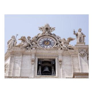 Uhr und Bell, Vatikanstadt, Rom, Italien Postkarte