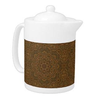 Uhrwerk-Kaleidoskop-   Muster-Teekannen