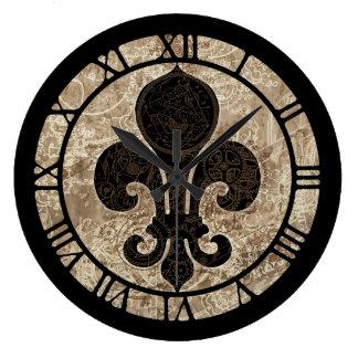 Uhrwerk-Lilie Große Wanduhr