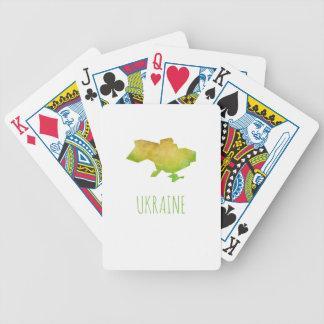 Ukraine-Karte Bicycle Spielkarten