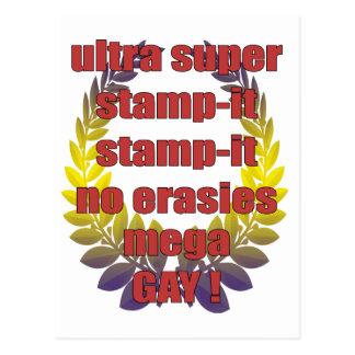 ultra Super Briefmarke-es Briefmarke-es kein Postkarten